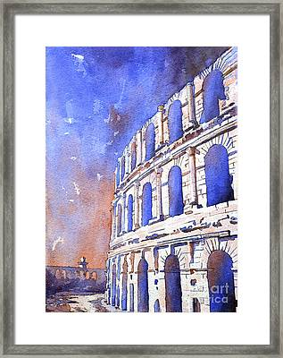 Roman Coliseum- Africa Framed Print by Ryan Fox