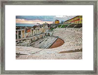 Roman Coliseum Plovdiv Framed Print
