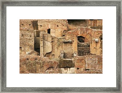 Framed Print featuring the photograph Roman Colosseum by Silvia Bruno