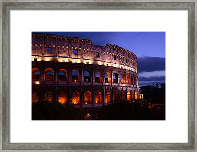 Roman Colosseum At Night Framed Print by Warren Home Decor