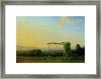 Roman Countryside Framed Print by Pierre Henri de Valenciennes