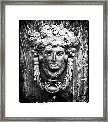 Roman Door Knocker Framed Print by John Rizzuto