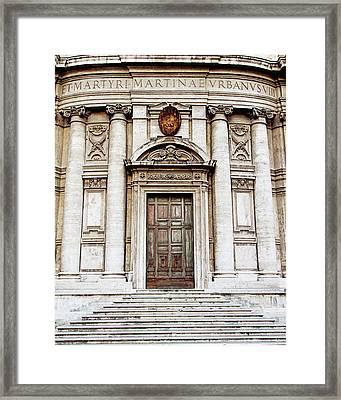 Roman Doors - Door Photography - Rome, Italy Framed Print