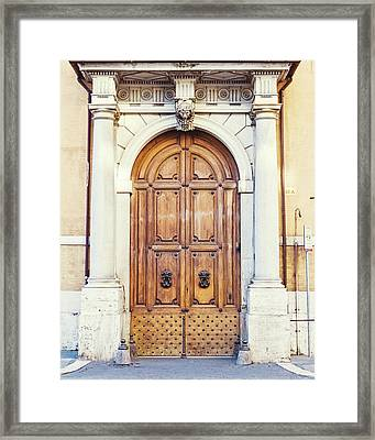 Framed Print featuring the photograph Roman Doors by Melanie Alexandra Price