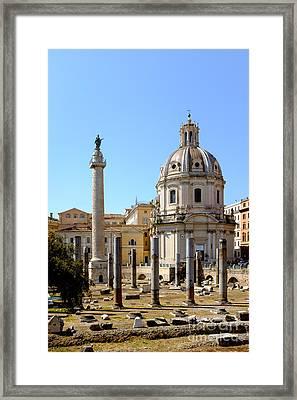 Roman Forum Framed Print by Edward Fielding