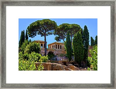 Framed Print featuring the photograph Roman Forum Hillside  by Harry Spitz