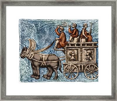 Roman Four-wheeled Traveling Wagon Framed Print
