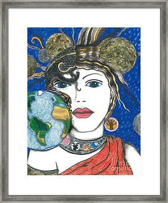 Roman Goddess Terra Mater Framed Print by Sherie Balko-Nation