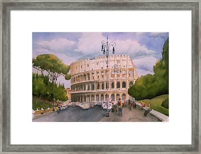 Roman Holiday- Colosseum Framed Print by Leah Wiedemer