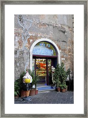 Roman Ice Framed Print by Keith Sanders