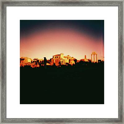 Roman Imperial Forum Framed Print