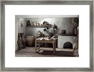 Roman Kitchen, 100 A.d Framed Print by Granger