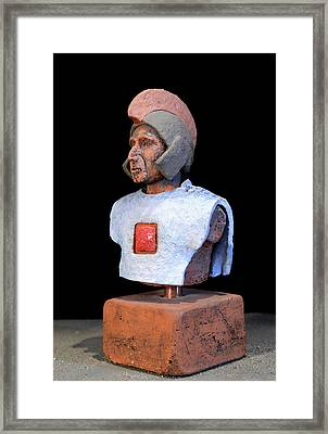 Roman Legionaire - Warrior - Ancient Rome - Roemer - Romeinen - Antichi Romani - Romains - Romarere  Framed Print by Urft Valley Art