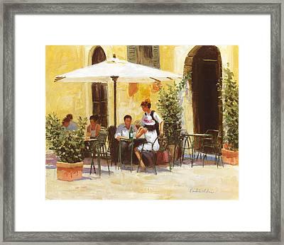 Roman Lunch Framed Print by Paul Milner