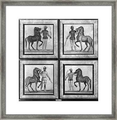 Roman Mosaic: Charioteers Framed Print by Granger