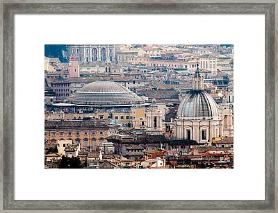 Roman Rooftops Framed Print by Andy Smy