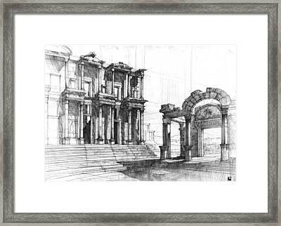 Roman Ruins Framed Print by Krystian Wozniak