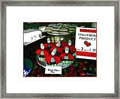 Roman Solders Framed Print by Joan  Minchak
