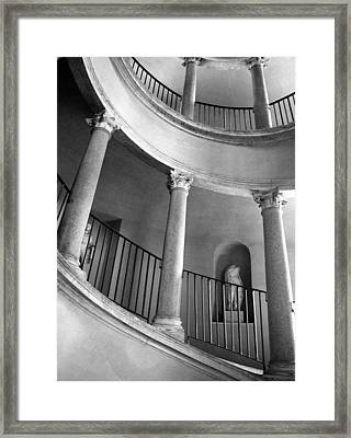 Roman Staircase Framed Print by Donna Corless