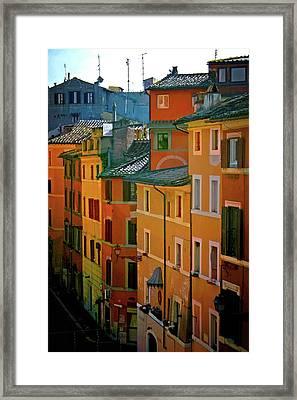 Roman Street Framed Print