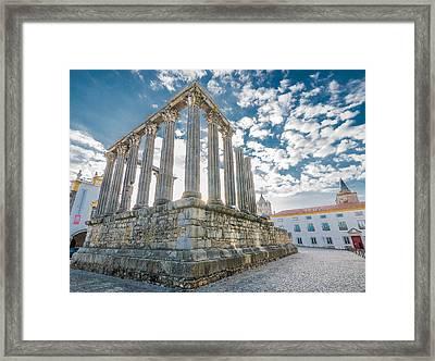 Roman Temple At Evora Framed Print