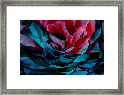 Romance - Abstract Art Framed Print by Jaison Cianelli