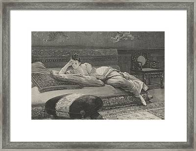 Romance And Repose Framed Print by English School