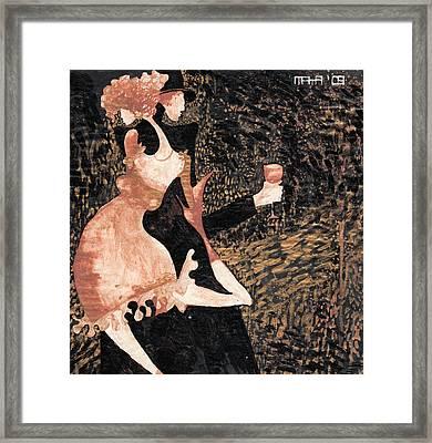 Framed Print featuring the painting Romance De Paris by Maya Manolova