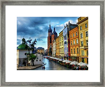 Romance In Krakow Framed Print