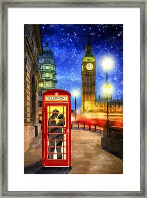 Romance In London By Starlight Framed Print