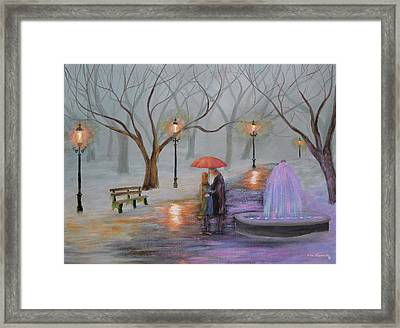 Romance In The Park Framed Print