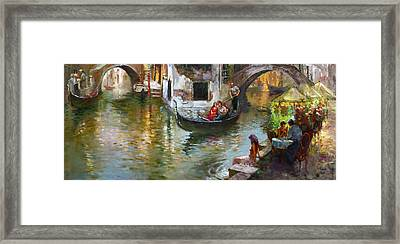 Romance In Venice 2 Framed Print by Ylli Haruni