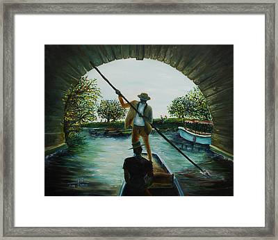 Framed Print featuring the painting Romance by Itzhak Richter