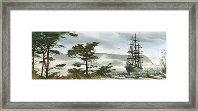 Romance Of Sailing Framed Print