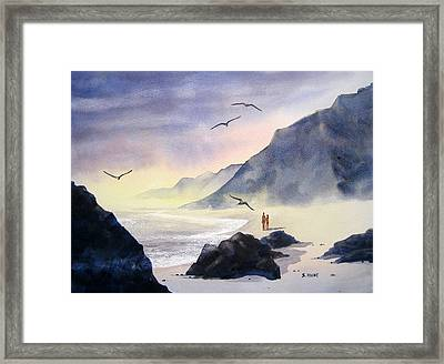 Romance Of The Cormorants Framed Print by Shirley Braithwaite Hunt