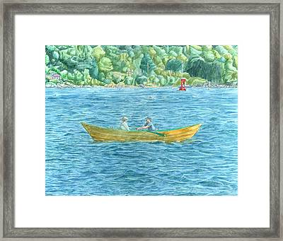 Romance On Hussey Sound Framed Print