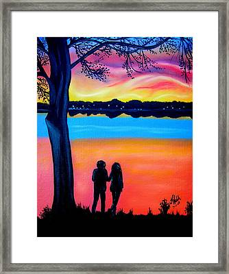 Romance On The Bay Framed Print by Kathern Welsh