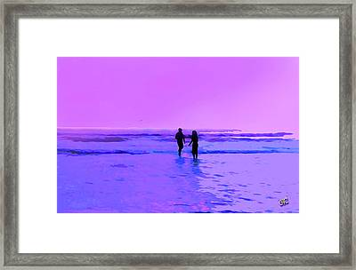 Romance On The Beach Framed Print