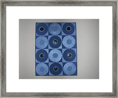 Romancing The Blue Stone Framed Print by Gay Dallek