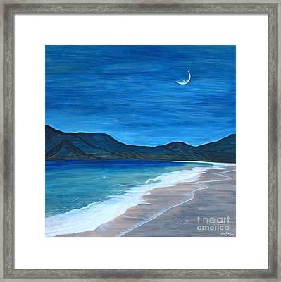 Romancing The Moon Framed Print by Barbara Donovan
