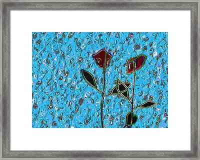 Romancing The Rose Framed Print by Morgan Rex