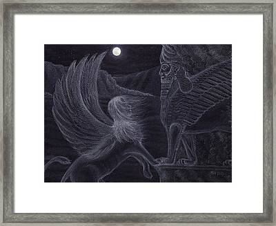 Romancing The Stone Framed Print by Philip Harvey
