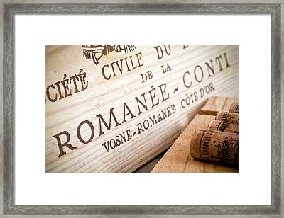 Romanee-conti Framed Print by Frank Tschakert