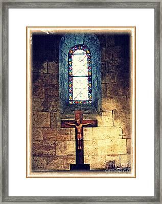 Romanesque Langon Chapel Framed Print by Sarah Loft