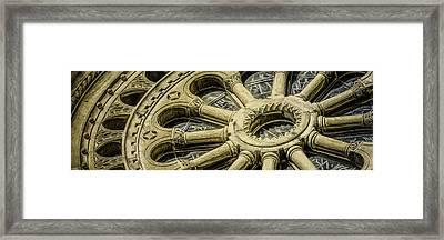 Romanesque Wheel Framed Print