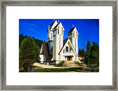 Romanian Church Framed Print by Rick Bragan