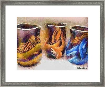 Romanian Vases Framed Print by Jeff Kolker