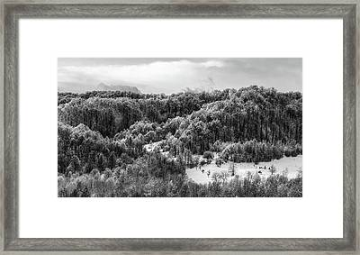 Romanian Winter Vista Framed Print