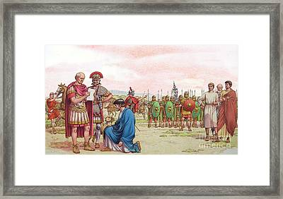 Romano British Appeal To General Aetius Framed Print by Pat Nicolle
