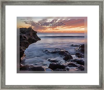 Framed Print featuring the photograph Romans 12 2 by Dawn Currie